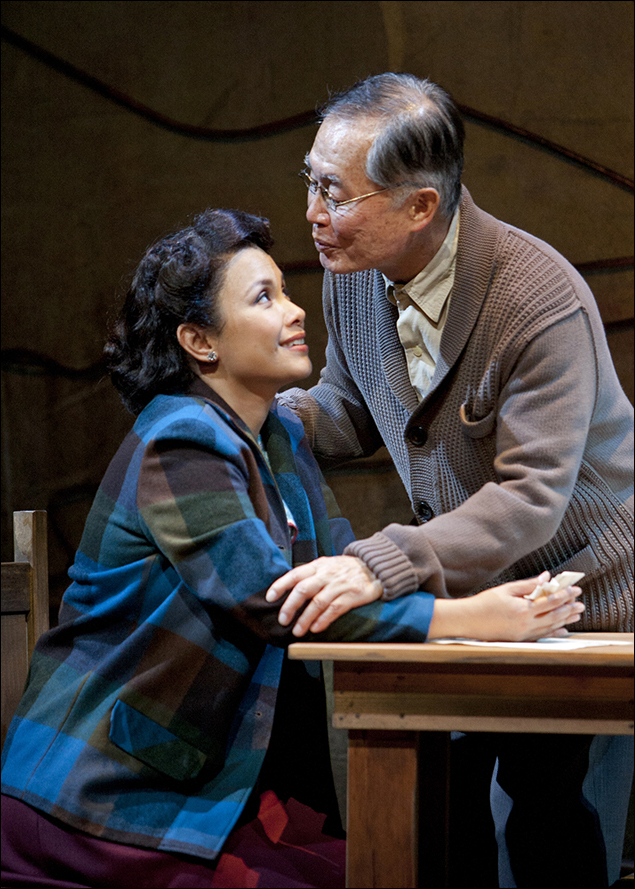 Lea Salonga and George Takei in Allegiance at the Old Globe