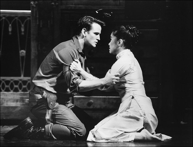 Sean McDermott and Lea Salonga in Miss Saigon