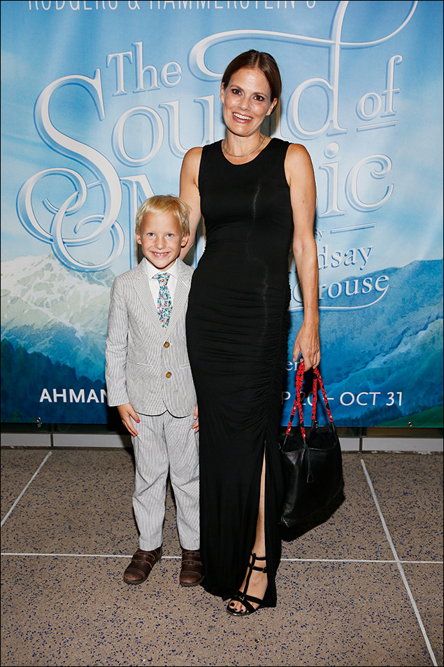 Suzanne Cryer and son