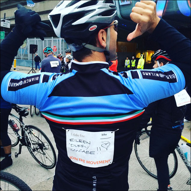 Michael Berresse rode for his friend, Duffy.