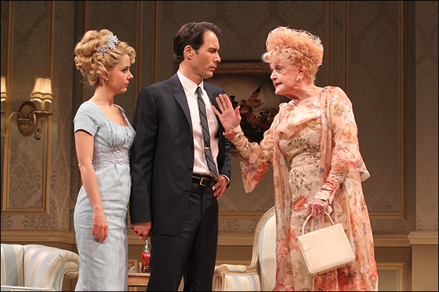 Kerry Butler, Eric McCormack and Angela Lansbury in The Best Man on Broadway