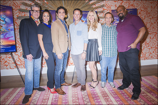 Jonathan Freeman, Courtney Reed, Adam Jacobs, Scott Weinger, Linda Larkin, Gilbert Gottfried and James Monroe Iglehart