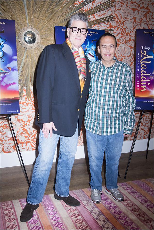 Jonathan Freeman and Gilbert Gottfried