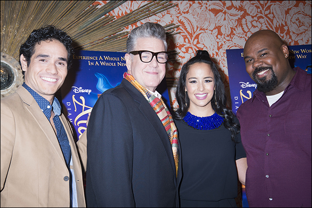 Adam Jacobs, Jonathan Freeman, Courtney Reed and James Monroe Iglehart