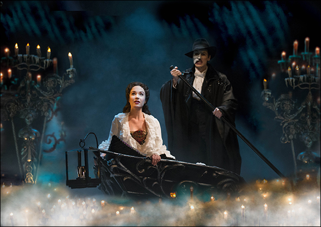 Sierra Boggess and Hugh Panaro in the Broadway musical The Phantom of the Opera, 1988