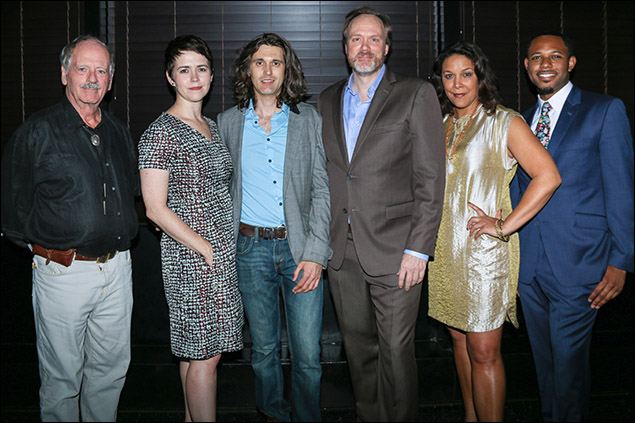 Philip Kerr, Emily Donahoe, Lucas Hnath, Andrew Garman, Linda Powell and Larry Powell