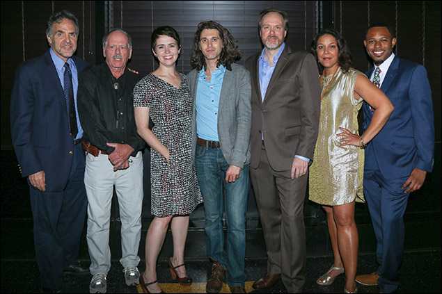 Tim Sanford, Philip Kerr, Emily Donahoe, Lucas Hnath, Andrew Garman, Linda Powell and Larry Powell