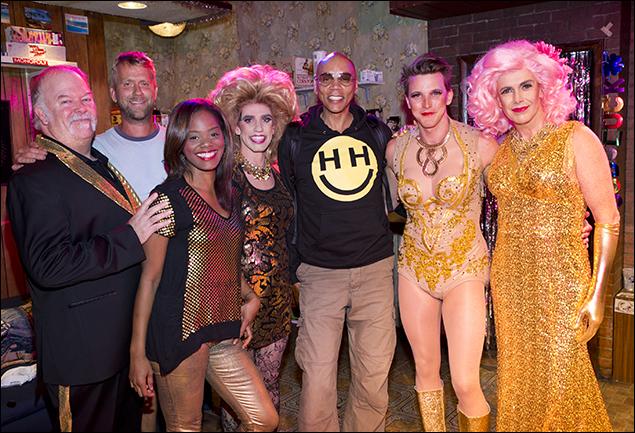 RuPaul and the cast of The Legend of Georgia McBride