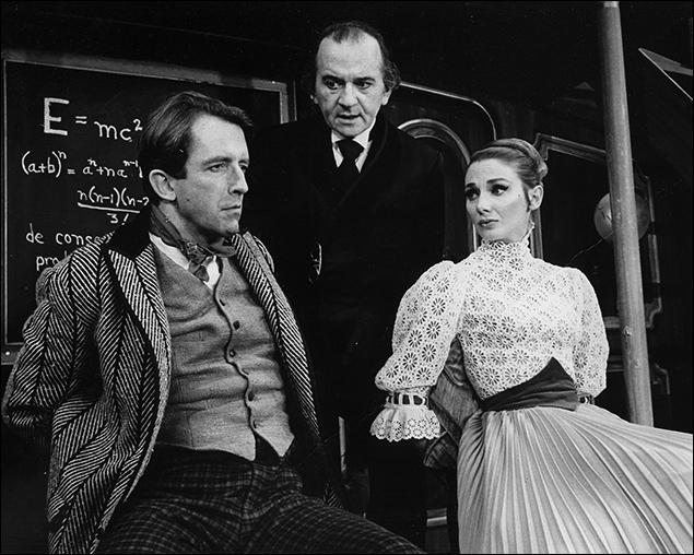 Fritz Weaver, Martin Gabel and Inga Swenson in Baker Street, 1965