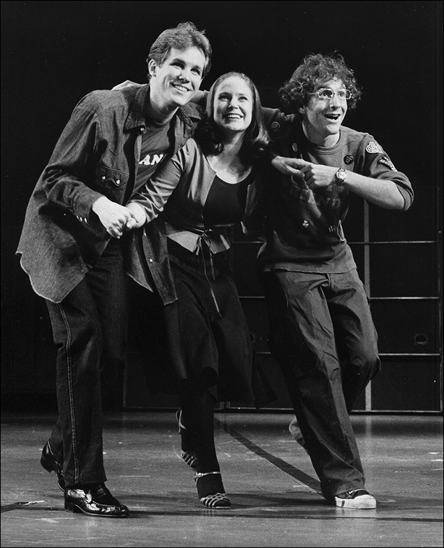 Jim Walton, Ann Morrison and Lonny Price in Merrily We Roll Along