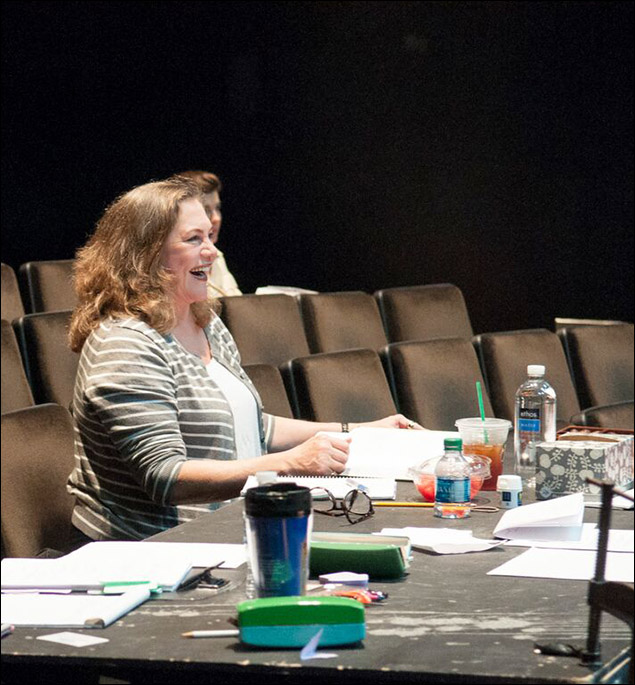 Kathleen Turner rehearsing for Would You Still Love Me If...