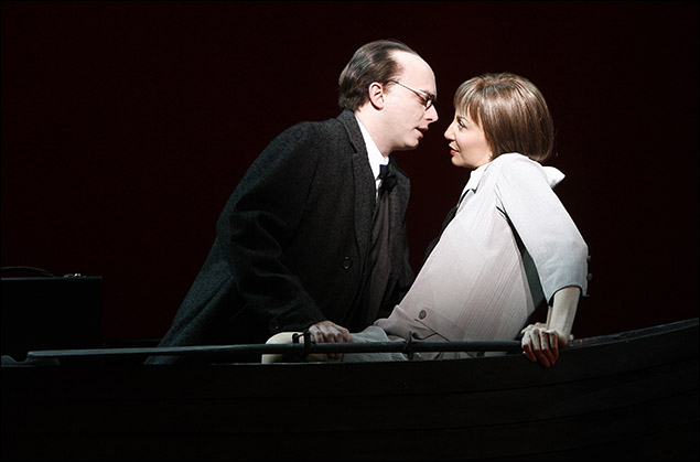 Michael Cerveris and Donna Murphy in the Broadway musical LoveMusik, 2007