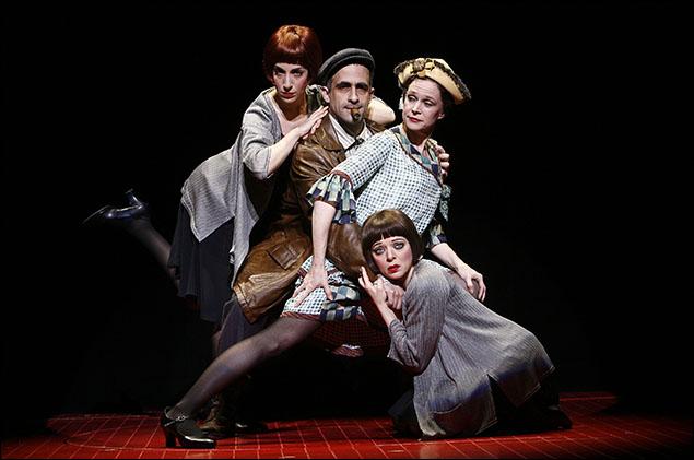 David Pittu and company in the Broadway musical LoveMusik, 2007