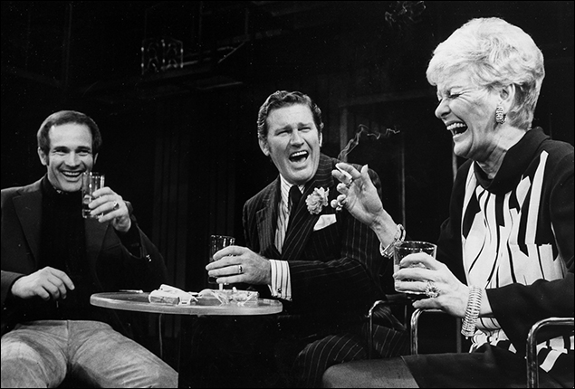 Larry Kert, Charles Braswell and Elaine Stritch in the Broadway musical Company, 1970