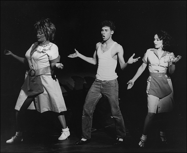 Michele Mais, Alex Paez and Yamil Borges in Broadway musical Roza, 1987