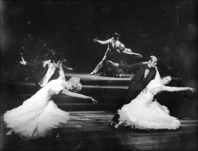 Mike Misita, Graciela Daniele, Victor Griffin and Jayne Turne in the Broadway musical Follies, 1971