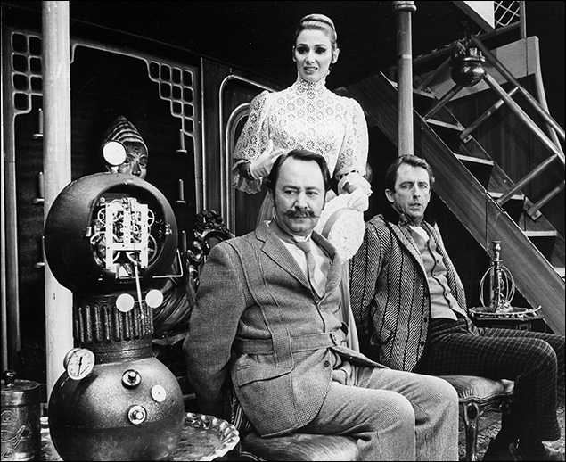 Peter Sallis, Inga Swenson and Fritz Weaver in Baker Street, 1965