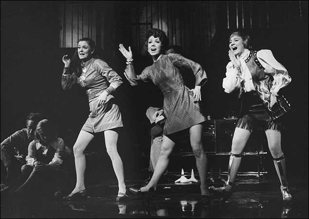 Susan Browning, Donna McKechnie and Pamela Myers in the Broadway musical Company, 1970