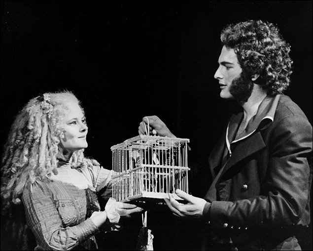 Sarah Rice and Victor Garber in the Broadway Musical Sweeney Todd, 1979