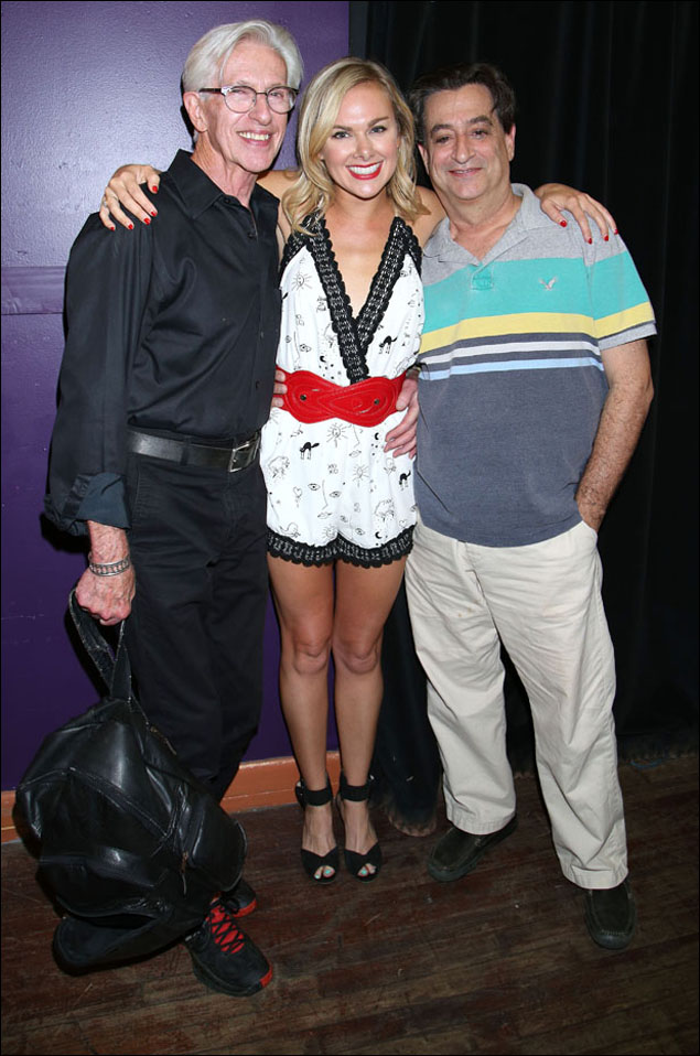 Marvin Laird, Laura Bell Bundy and Joel Paley