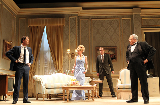 Eric McCormack, Kerry Butler, Corey Brill and James Earl Jones in The Best Man on Broadway