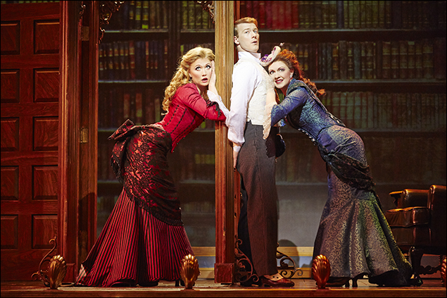 Scarlett Strallen, Jeff Kready and Catherine Walker