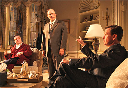 Nathan Lane, Ethan Phillips and Dylan Baker in November