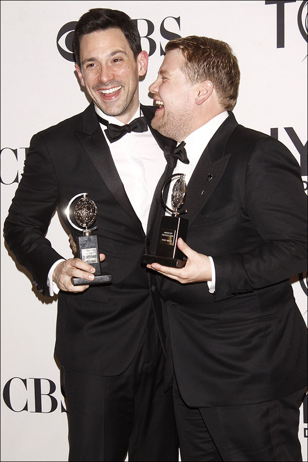 Steve Kazee and James Corden