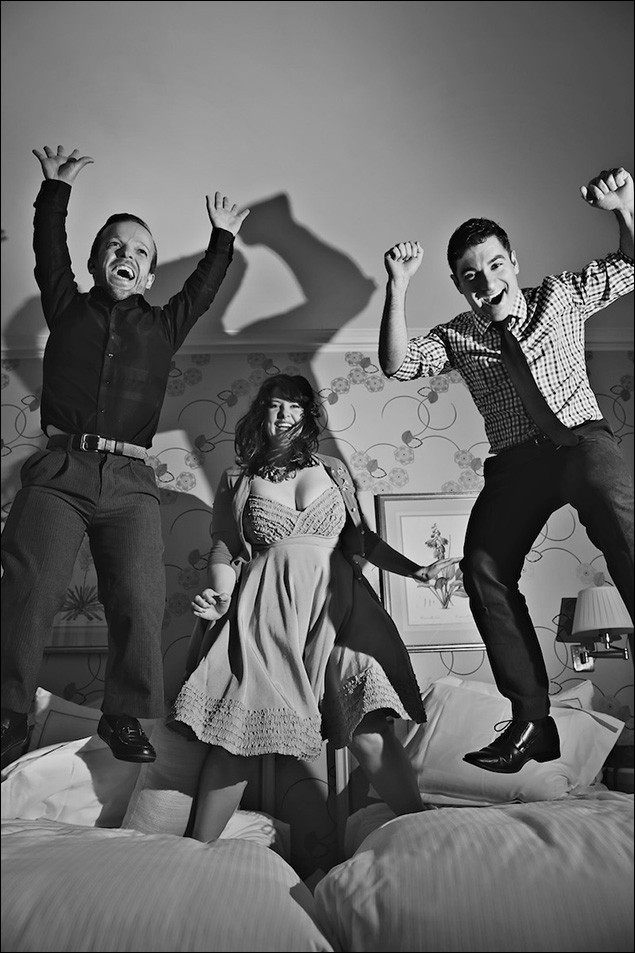 Josh Walker, Lauren Elder and Javier Ignacio