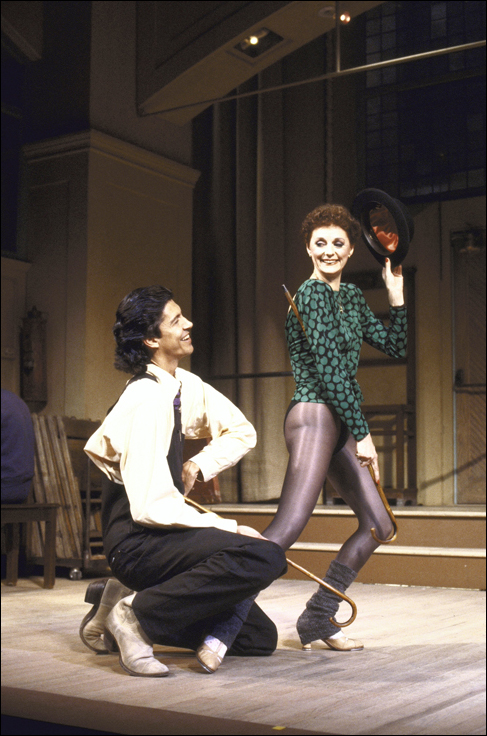 Tommy Tune and Carole Shelley rehearse for Stepping Out