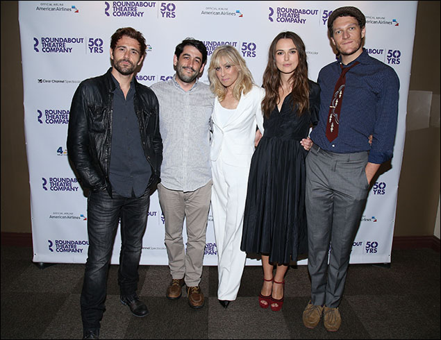 Matt Ryan, Evan Cabnet, Judith Light, Keira Knightley and Gabriel Ebert