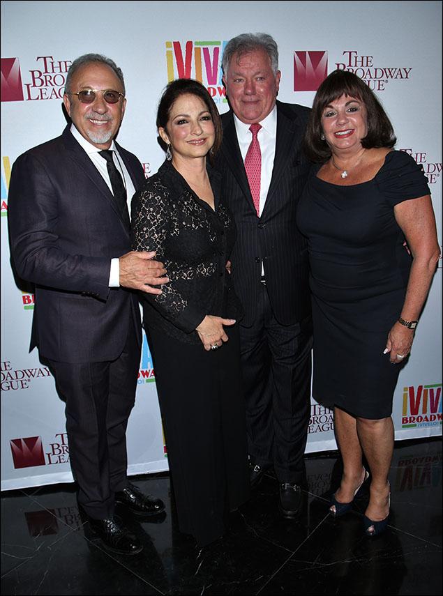 Emilio Estefan, Gloria Estefan, Robert E. Wankel and Charlotte St. Martin