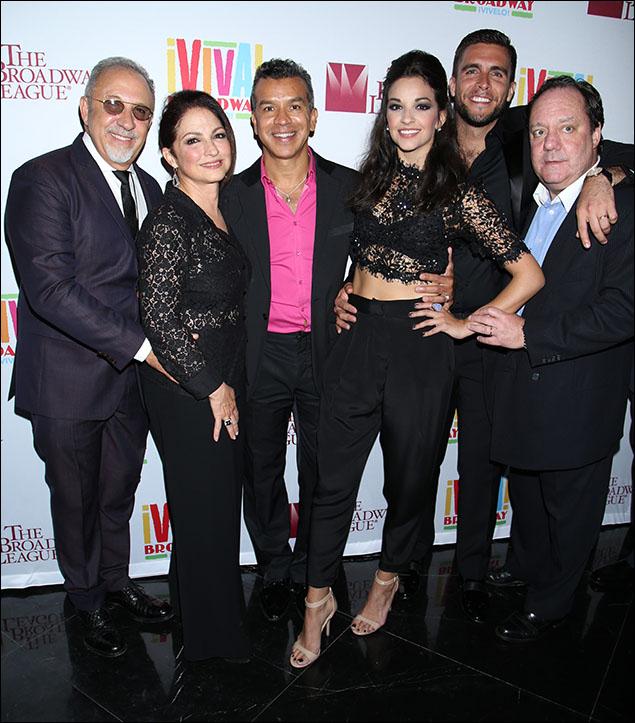 Emilio Estefan, Gloria Estefan, Sergio Trujillo, Ana Villafañe, Josh Segarra and Jimmy Nederlander