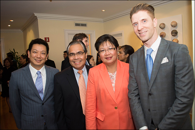 Jay Kuo Amb. and Mrs. Mario L. De Leon Jr. and Lorenzo Thione
