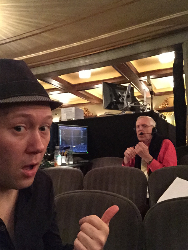 Lighting designer Ken Billington still hard at work 15 previews in to our run.  This is his 99th Broadway show.  The last time he worked with our set designer, Eugene Lee, was the original production of Sweeney Todd.  #legends