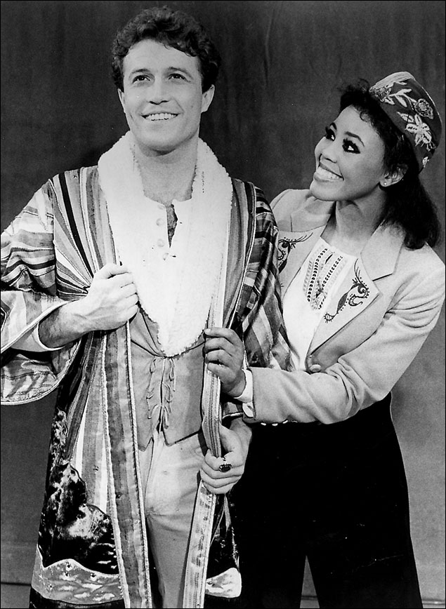 Andy Gibb and Sharon Brown