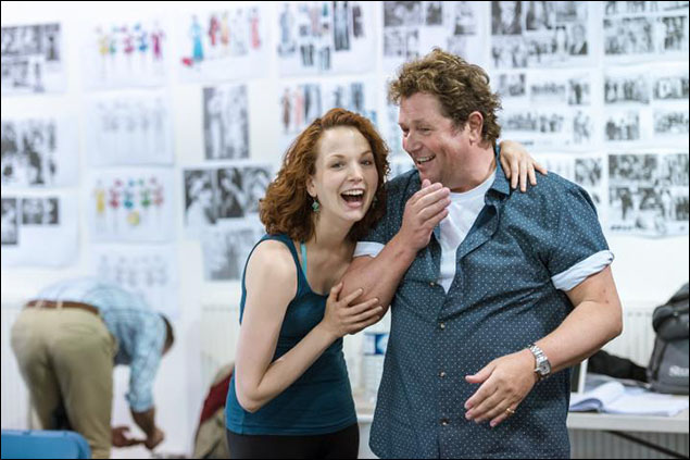 Rebecca LaChance and Michael Ball in rehearsal