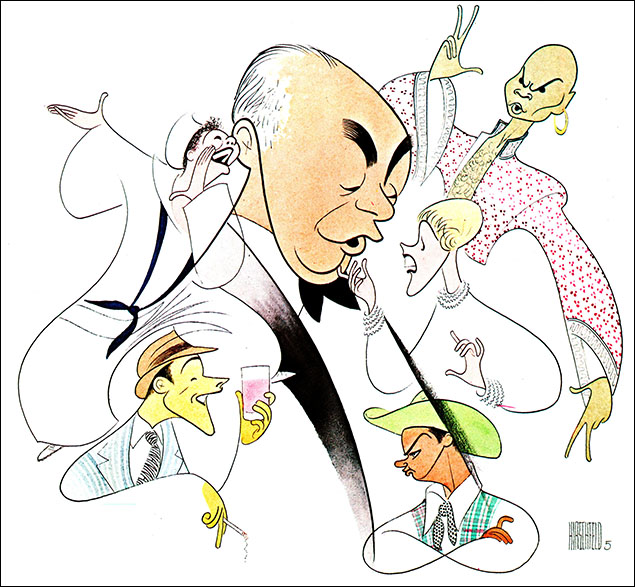 Richard Rodgers Surrounded By Characters From His Greatest Shows, Gouache. 1978 Yul Brynner as the King was among the iconic performers in signature roles that surrounded their composer, Richard Rodgers on this Stereo Review cover.