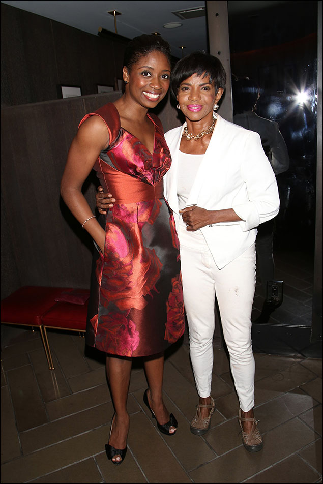 Montego Glover with Melba Moore, who was the first African-American Fantine