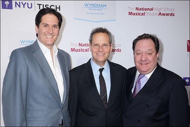 Nick Scandalios, Van Kaplan and James L. Nederlander