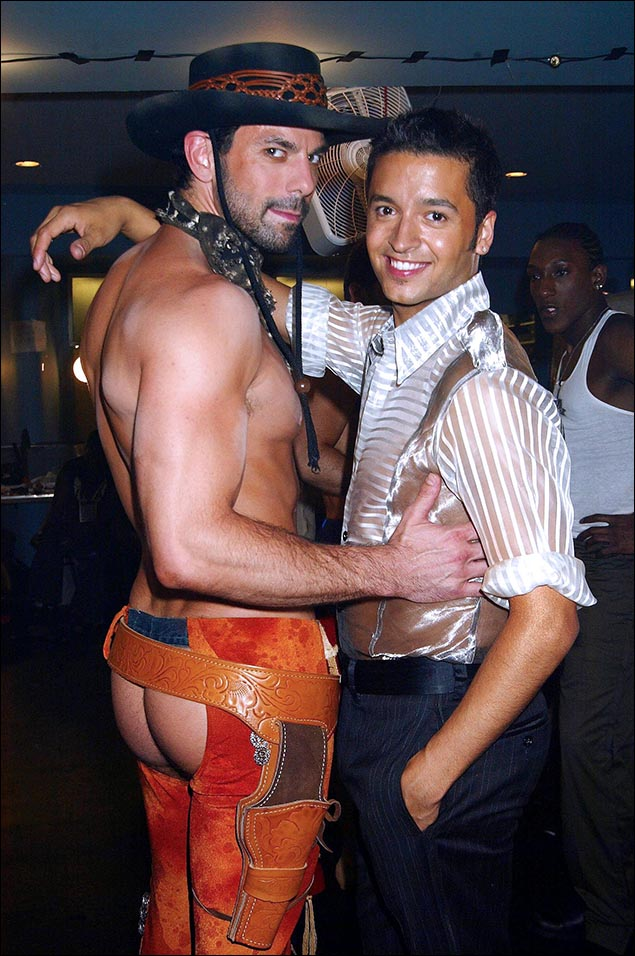 Jai Rodriguez and dancer Chuck Saculla, 2004