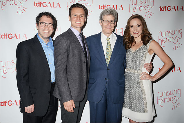 Andy Einhorn, Jonathan Groff, Ted Chapin and Laura Osnes