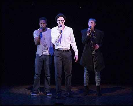 Brandon Pearson, Gavin Creel and Jo Lampert