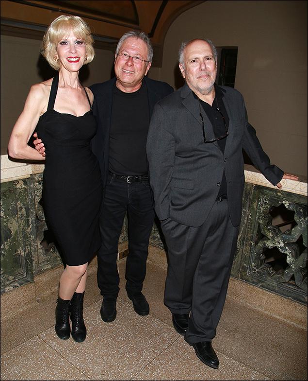 Ellen Greene, Alan Menken and Lee Wilkof