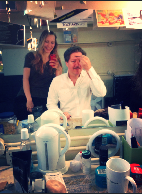 My leading man Robert Petkoff who plays Richard Hannay, shows me how 100 Shows has aged him.