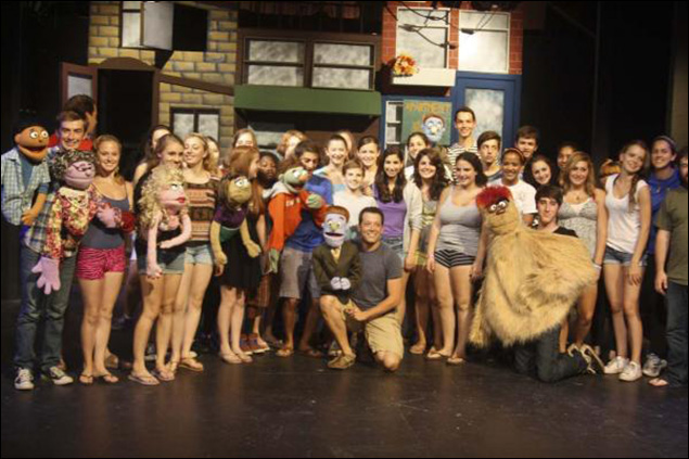 2011 Cast of Avenue Q, With John Tartaglia at French Woods