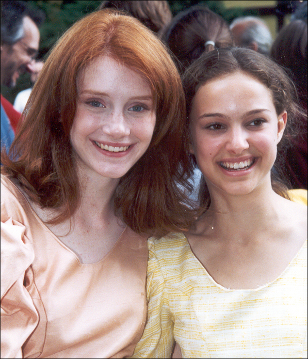 Bryce Dallas Howard and Natalie Portman in Midsummer Night's Dream, 1996, at Stagedoor Manor