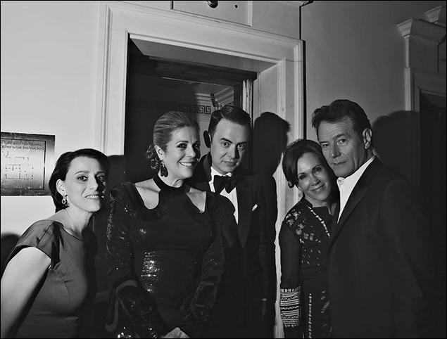 Judy Kuhn, Rita Wilson, Colin Hanks, Robin Dearden and Bryan Cranston
