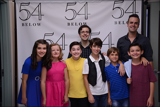 Front: Mavis Simpson-Ernst, Milly Shapiro, Joshua Colley, Aidan Gemme, Zachary Unger and Luca Padovan  Back row: Van Dean and Michael J. Moritz, Jr