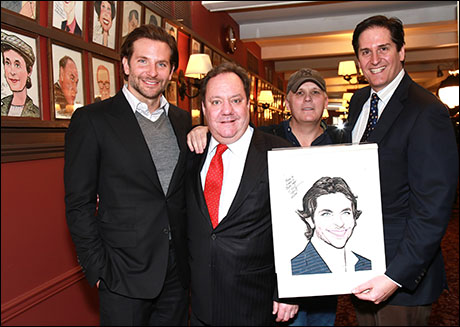 Bradley Cooper, Jimmy Nederlander, Scott Ellis and Nick Scandalios